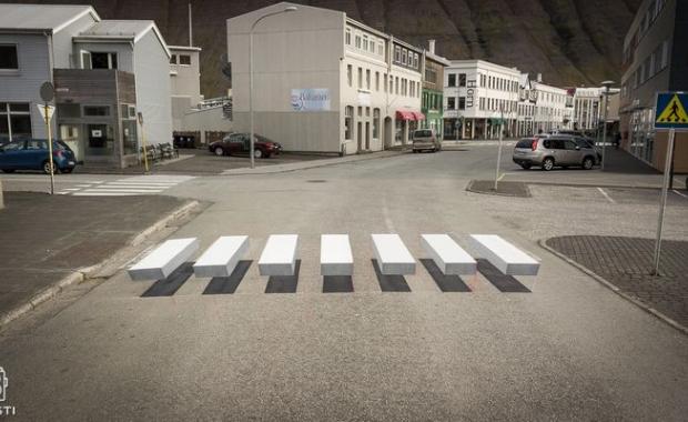 3D zebra usporava promet