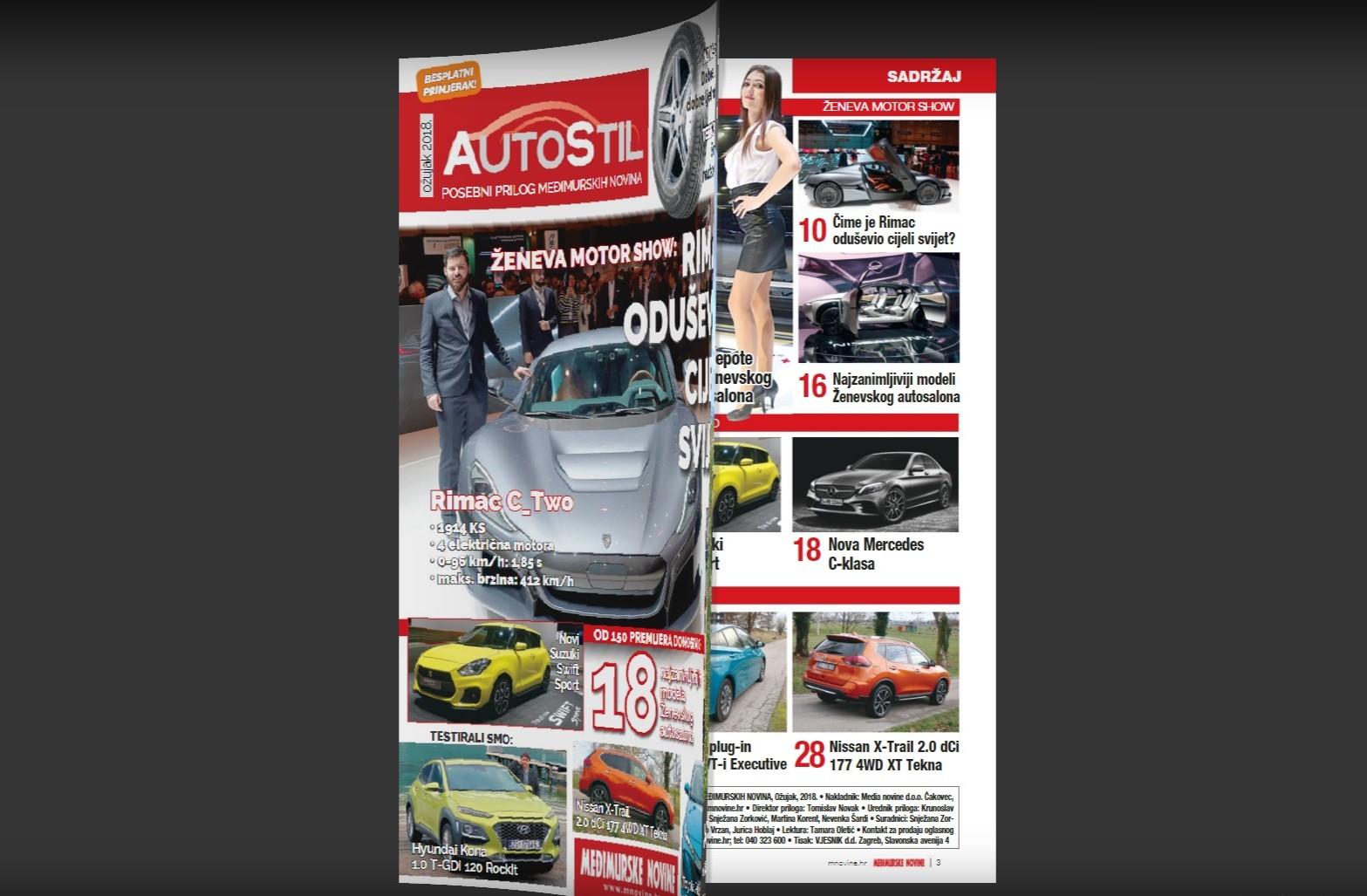 AUTO STIL Veliki izvještaj sa Ženevskog auto salona, sve o Rimac C_Two, testovi automobila…