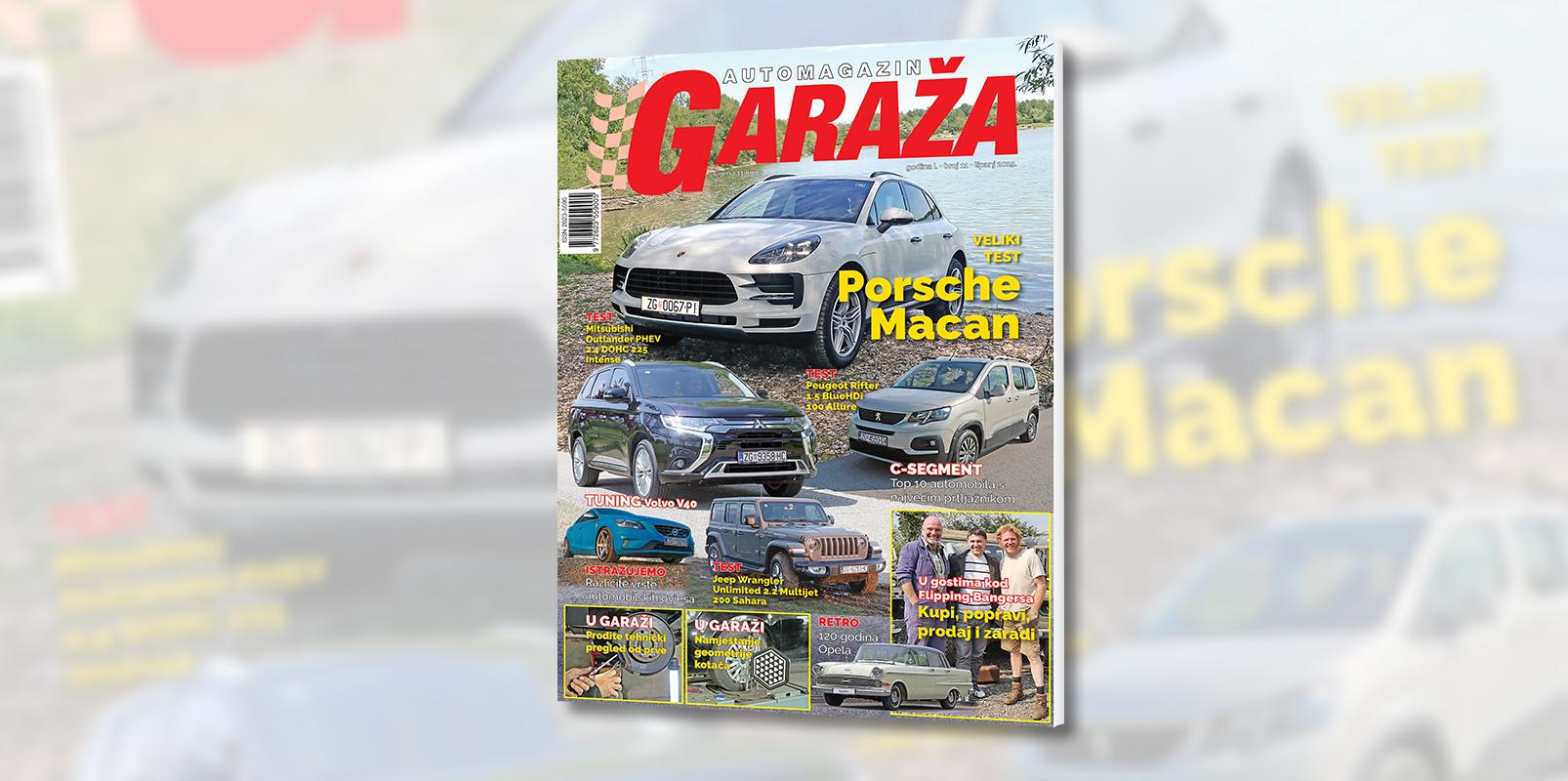 Nova GARAŽA je na svim kioscima: Otkrivamo kako proći tehnički od prve, a vozili smo Porsche Macan, Mitsubishi Outlander, Jeep Wrangler