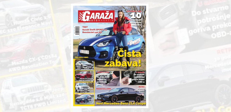 Nova GARAŽA je na svim kioscima: testirali smo novi Suzuki Swift Sport, usporedili 10 najmanjih automobila na tržištu i detaljno analizirali prodaju novih automobila u Hrvatskoj