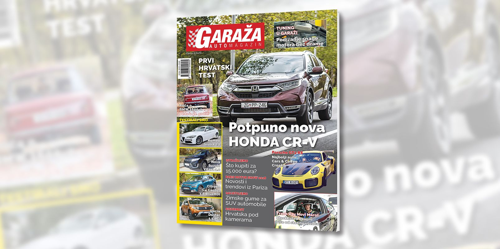 Nova GARAŽA je na svim kioscima: prvi hrvatski test Honde CR-V 1.5 i Suzuki Vitare 1.0