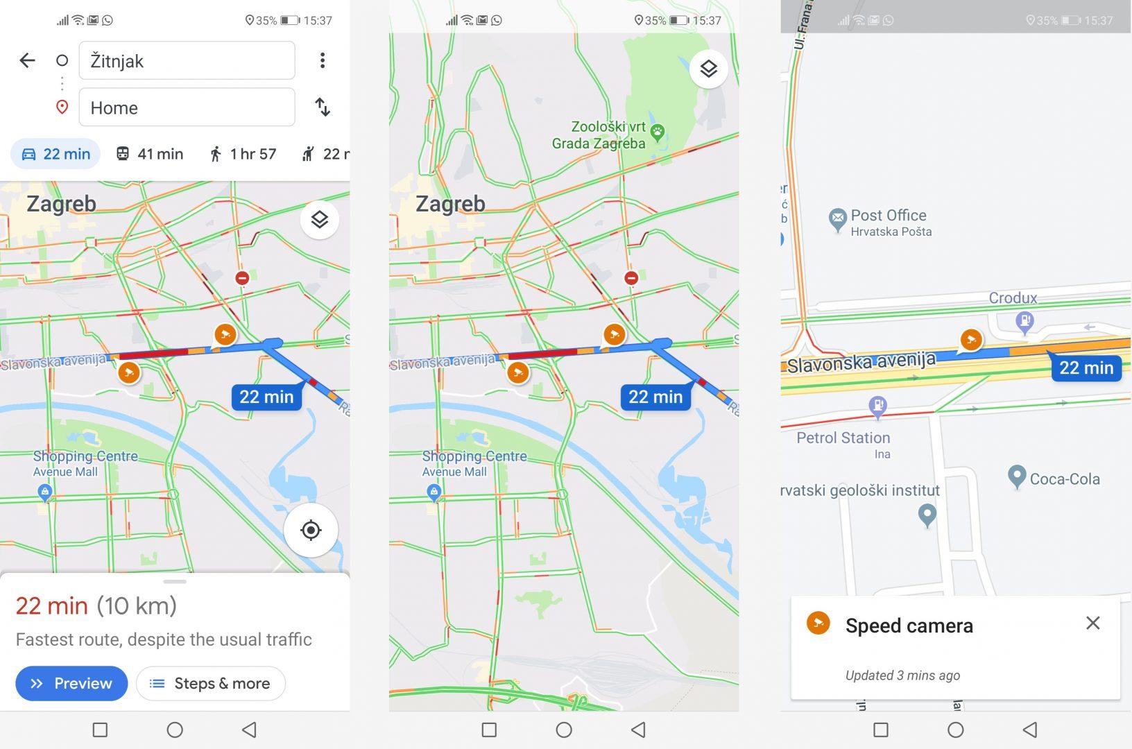Ograničenje brzine i upozorenje na kamere za nadzor prometa stigli u Google Mape