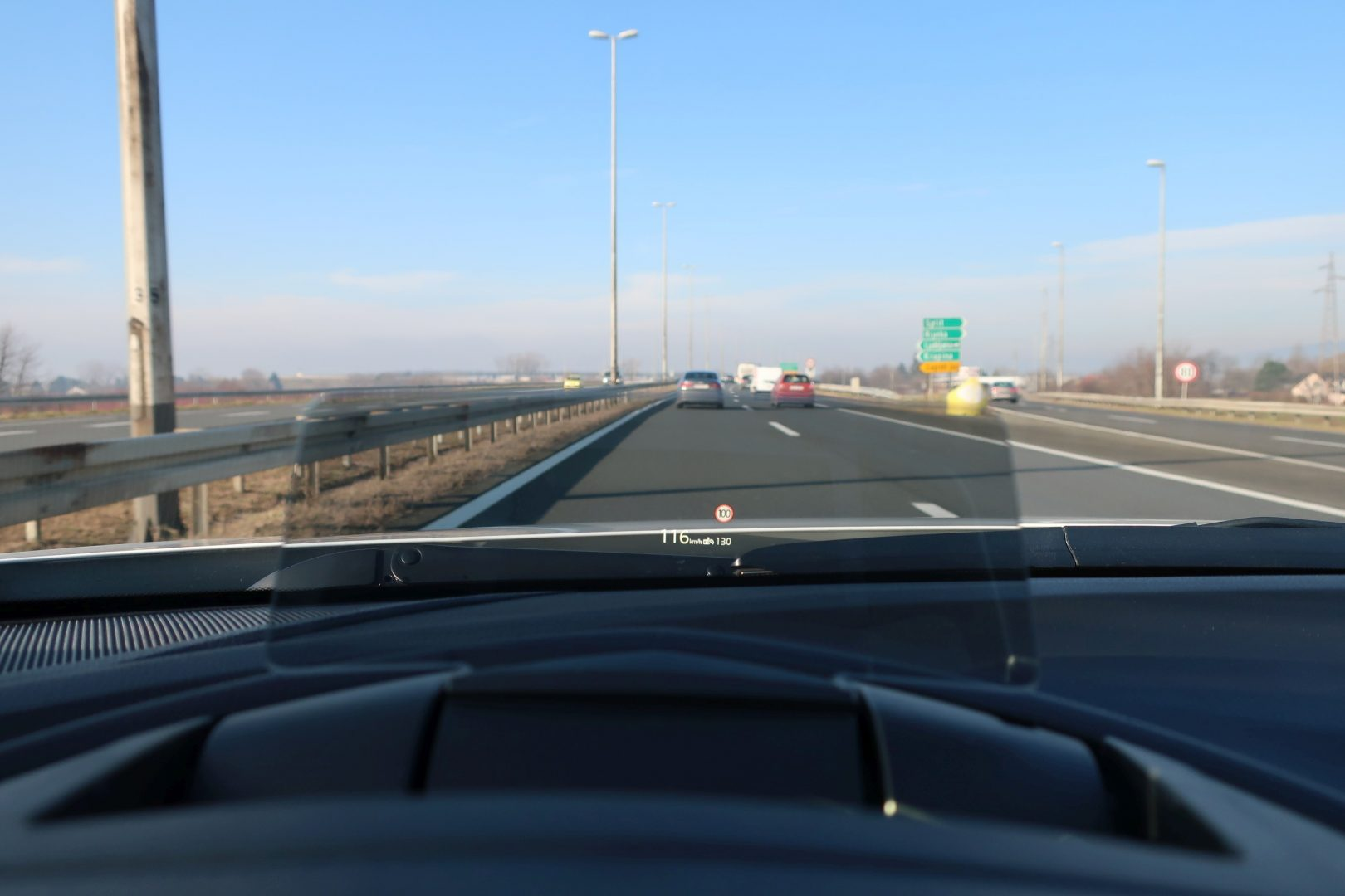 Head-up display olakšava vožnju