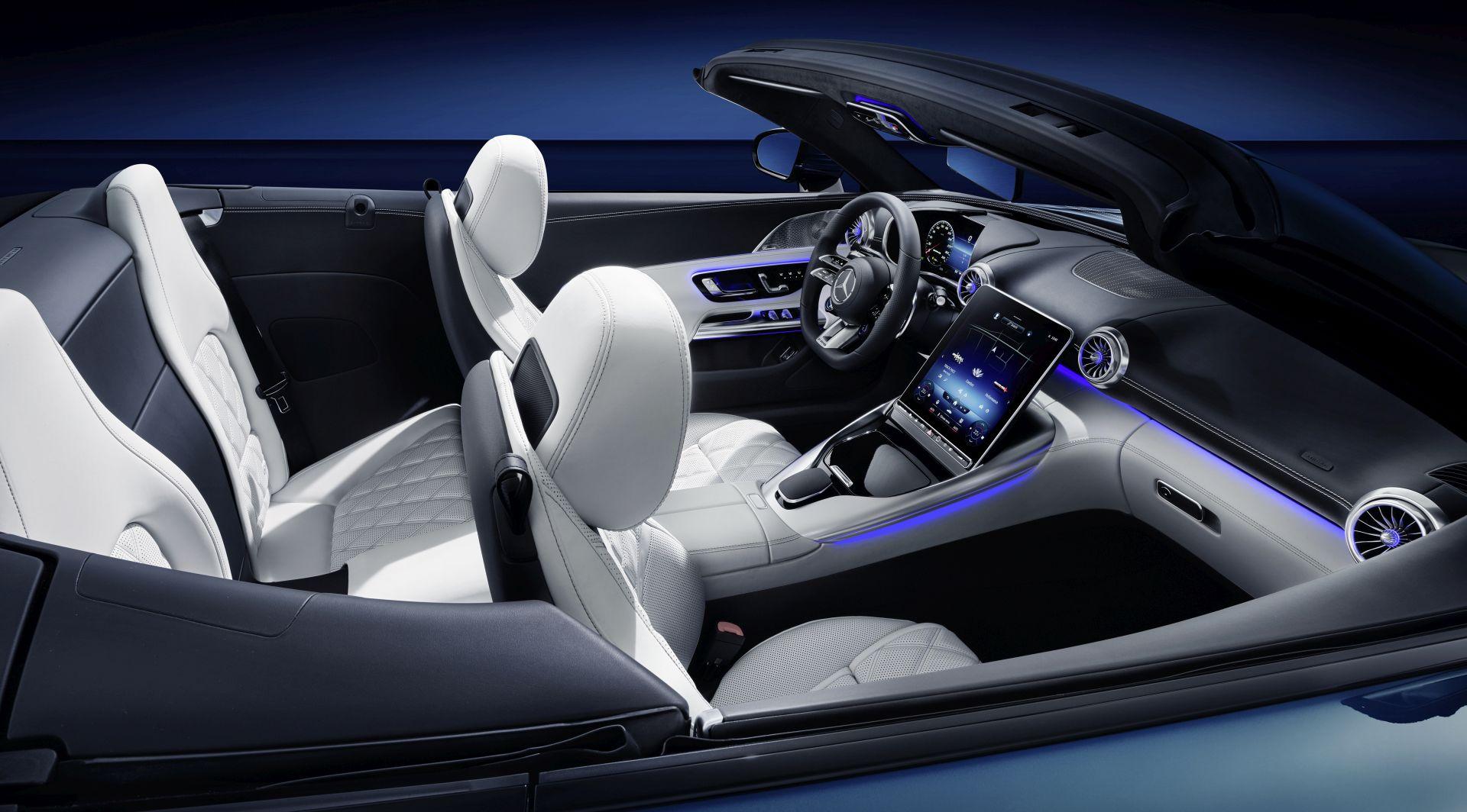Pogled u unutrašnjost nove generacije modela Mercedes-AMG SL
