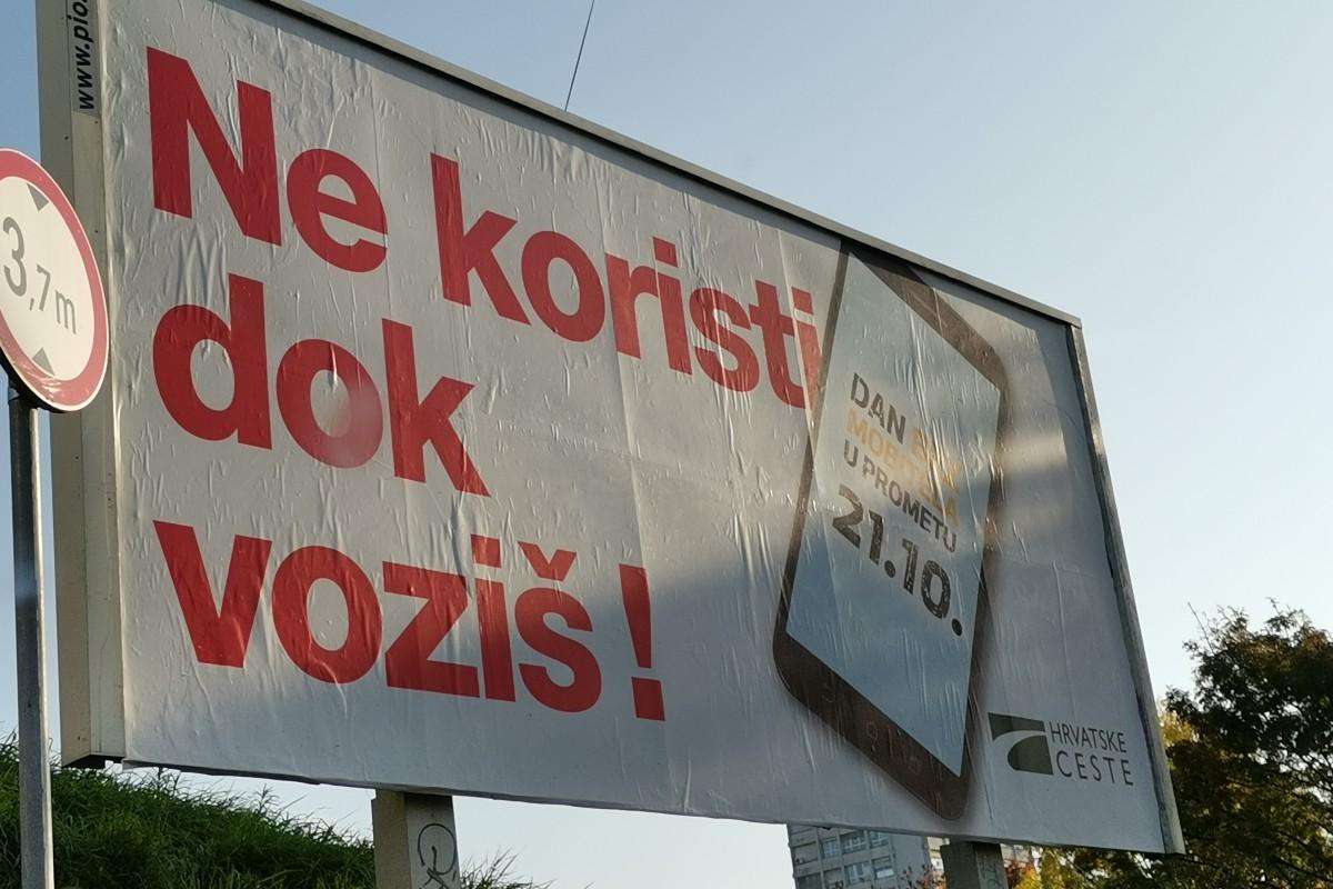 Danas je u Hrvatskoj Dan bez mobitela u prometu