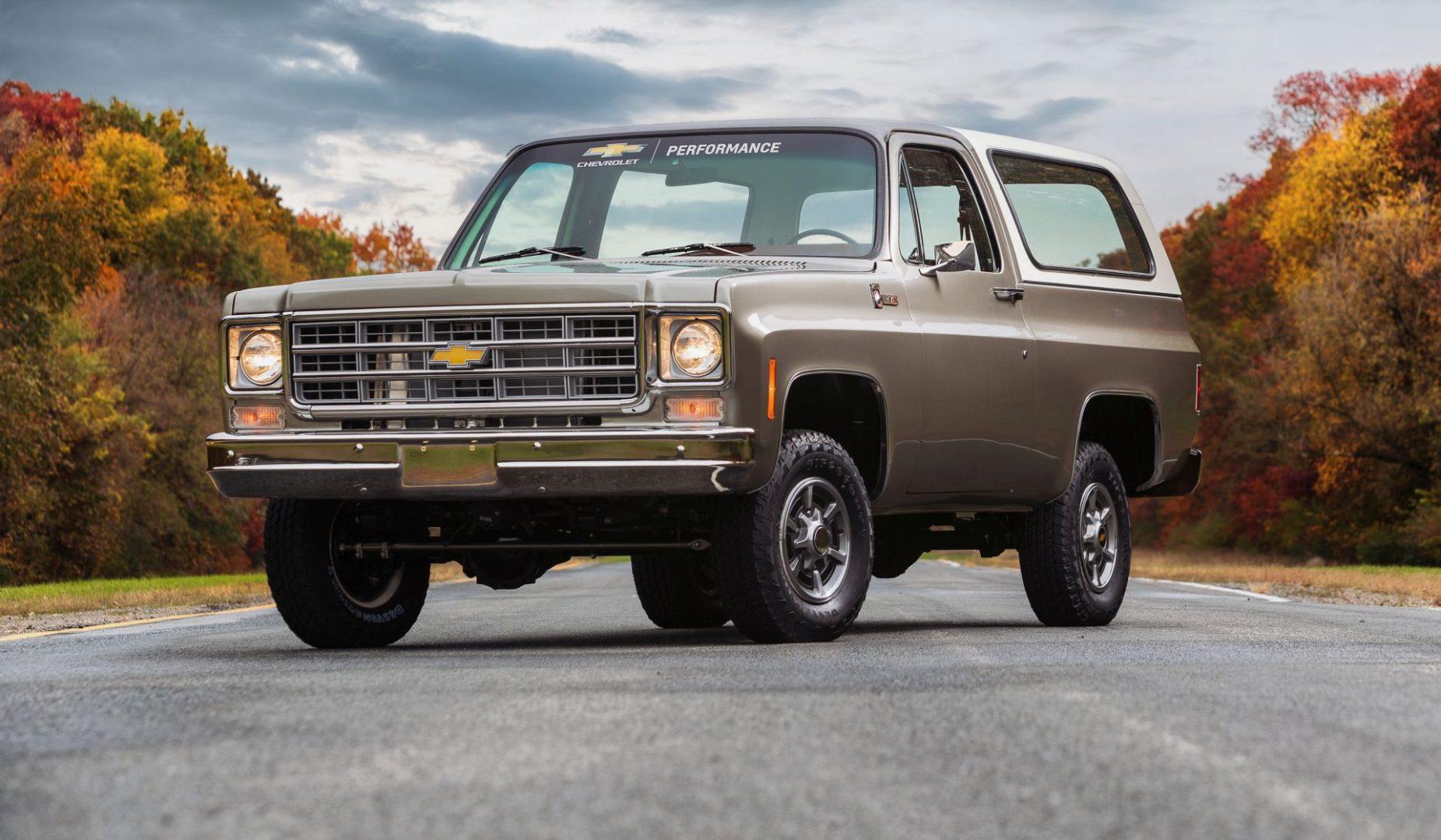 Kad se spoje prošlost i sadašnjost: 1977 Chevrolet K5 Blazer-E koncept