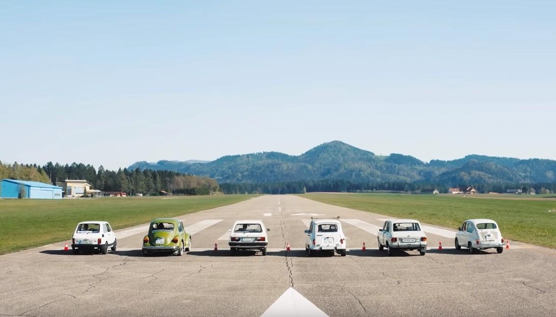 Tko je brži: Fićo, Stojadin i Yugo protiv Bube, Peglice i Renaulta 4