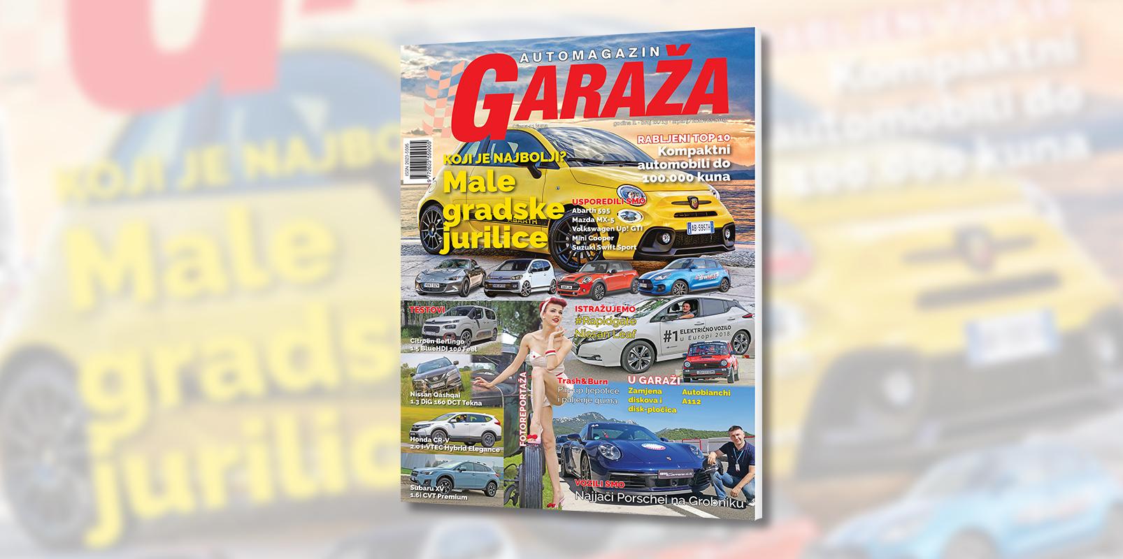 Nova GARAŽA je na svim kioscima: Usporedili smo male gradske jurilice, zamijenili disk kočnice i vozili najjače Porsche automobile na Grobniku