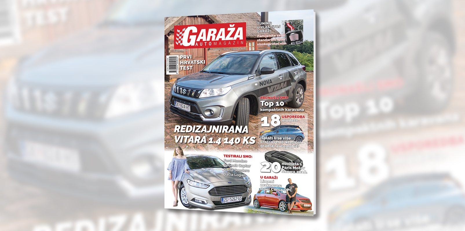 Nova GARAŽA je na svim kioscima: crossover ili klasični gradski automobil, prvi test nove Suzuki Vitare, kako postaviti visokoprotočni filtar